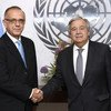 Secretary-General António Guterres (right) with Iván Velásquez Gómez, Commissioner of the International Commission against Impunity in Guatemala (CICIG). 22 May 2018.