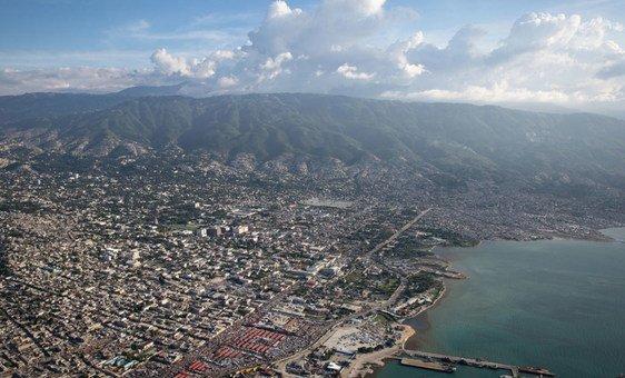 Vue aérienne de Port-au-Prince, la capitale d'Haïti.