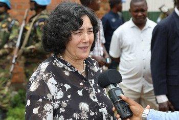 Leila Zerrougui, Représentante spéciale du Secrétaire général et cheffe de la Mission de l'Organisation des Nations Unies pour la stabilisation en République démocratique du Congo (MONUSCO) en janvier 2019.