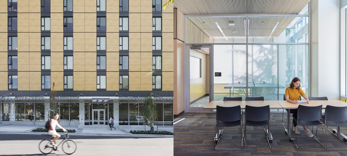 位于加拿大不列颠哥伦比亚大学的学生宿舍布洛克公寓是目前全球最高的木质建筑。