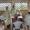 Une équipe de vaccination contre le virus Ebola de l'OMS travaille à Butembo en République démocratique du Congo en janvier 2019.