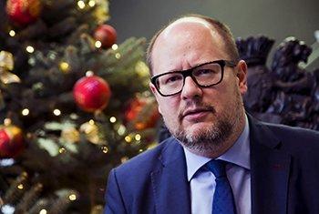 Paweł Adamowicz, maire de Gdansk (Pologne), ici sur une photo de janvier 2018.