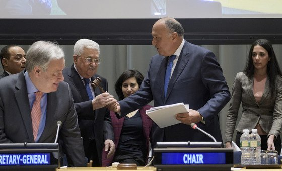 Handover Ceremony of the Chairmanship of the Group of 77, from the Arab Republic of Egypt to the State of Palestine