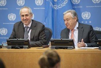 Генеральный секртарь на пресс-конференции в ООН призвал отстаивать общие ценности