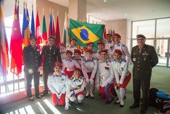 Estudantes do Colégio Militar do Brasil visitam as Nações Unidas