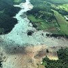 Area hit by the rupture of the dam in Brumadinho, Brazil.