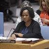 Bintou Keita, Mkuu wa masuala ya Afrika katika Idara ya operesheni za ulinzi wa amani za UN akihutubia Baraza la Usalama
