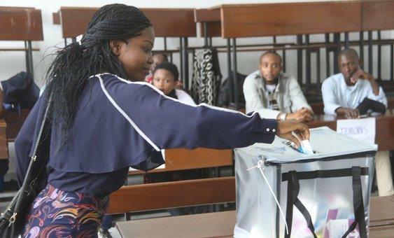 Граждане ДРК на избирательных участках