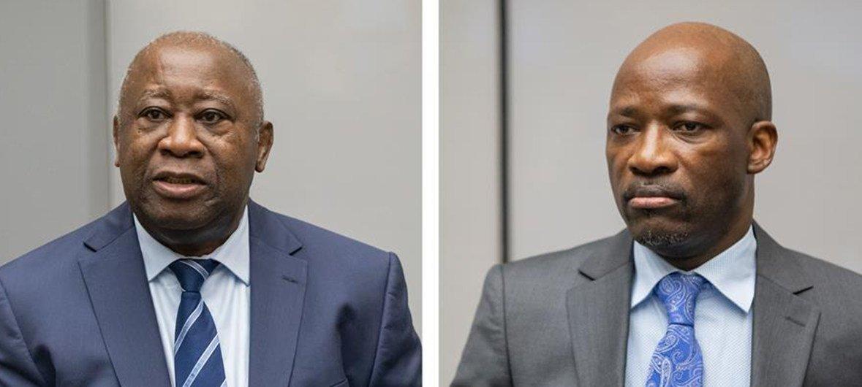 Laurent Gbagbo na Charles Blé Goudé wakiwa mahakamani huko The Hague Uholanzi leo tarehe 15 Januari 2019 wakati hukumu ikisomwa. Wameachiwa huru.