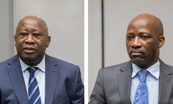 2019年1月15日,洛朗·巴博和查尔斯·古德在荷兰海牙国际刑事法院第一审判分庭。