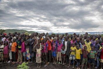 刚果民主共和国南基伍省穆隆圭(Mulongwe)难民营的布隆迪难民(资料图片)。