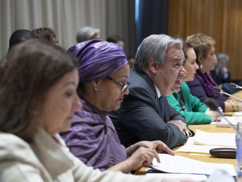 Le Secrétaire général de l'ONU António Guterres lors d'une réunion de l'Assemblée générale des Nations Unies.