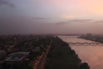 Vue aérienne de Khartoum, capitale du Soudan.