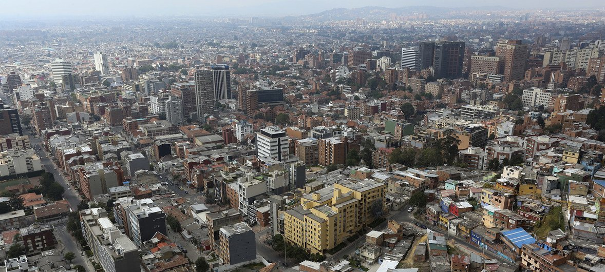 Aerial view of the city of Bogotá, Colombia.  (file)