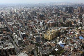 Vista aérea de la ciudad de Bogotá, en Colombia.