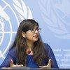 La portavoz de la Oficina de la Alta Comisionada para los Derechos Humanos, Ravina Shamdasani, durante un encuentro con la prensa en el Palacio de las Naciones en Ginebra, Suiza. Foto de archivo.