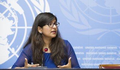 संयुक्त राष्ट्र मानवाधिकार कार्यालय की प्रवक्ता रवीना शमदसानी.
