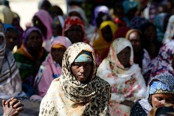 Wakimbizi na wasaka hifadhi kutoka Nigeria wakiwa katika eneo la kaskazini mwa Cameroon