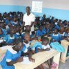 A school for refugees in Cameroon. Conflict has led to the closure of 80 per cent of schools in the anglophone regions of the country