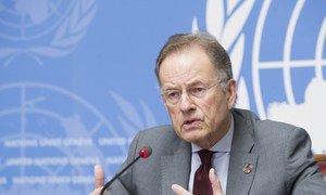 Diretor-geral do Escritório das Nações Unidas de Genebra e secretário-geral da Conferência sobre Desarmamento, Michael Moller