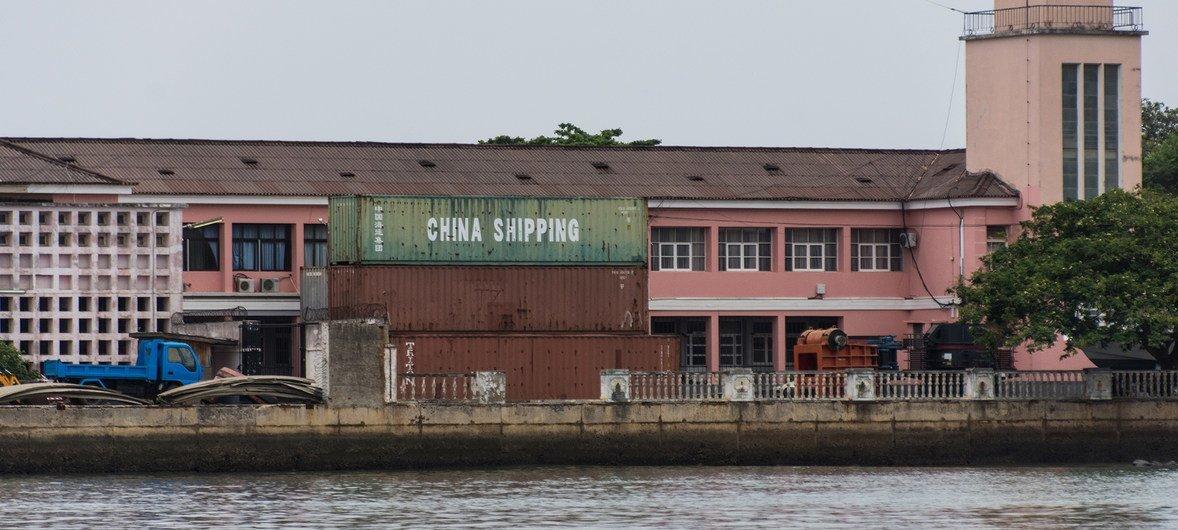 Porto em São Tomé e Príncipe