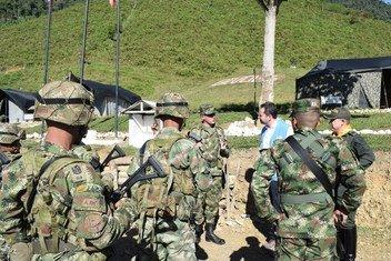 El jefe de la Misión de la ONU en Colombia, Carlos Ruiz Massieu, visita el espacio territorial de Llano Grande, Dabeiba-Antioquia, Colombia