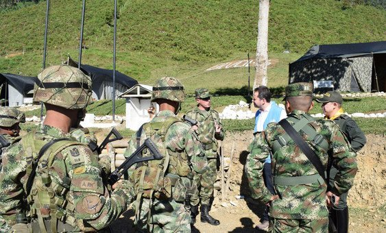 Carlos Ruiz Massieu, Special Representative for Colombia and Head of the United Nations Verification Mission in Colombia visiting the Territorial Areas for Training and Reintegration of Llano Grande, Dabeiba, Antioquia, Colombia (January 2019)