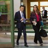 La filantropa Belinda Gates y el fundador de Alibaba Jack Ma a su llegada al Panel sobre Cooperación Digital en Ginebra.