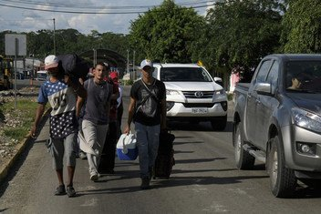 The numbers of Venezuelans arriving in Ecuador by foot increased throughout 2018. Many here in Lago Agrio, a city near the northern border with Colombia arrive dehydrated, exhausted and often with health problems.  November 2018.