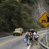 Los venezolanos que salen del país recorren una carretera que sale de Cúcuta en Colombia y se dirige a Pamplona. Septiembre 2018.