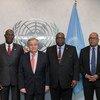 El Secretario General, António Guterres, con la delegación de jefes de Gobierno de CARICOM