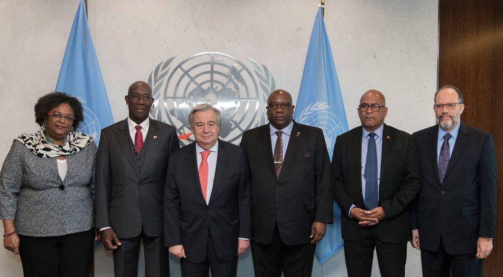 秘书长古特雷斯与加勒比共同体领导人,讨论委内瑞拉局势。