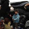 Une enfant et sa famille dans le camp d'Al-Hol, en Syrie.