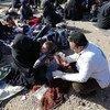 منظمة الصحة العالمية في سوريا تقدم المساعدات للنازحين في مخيم الهول.
