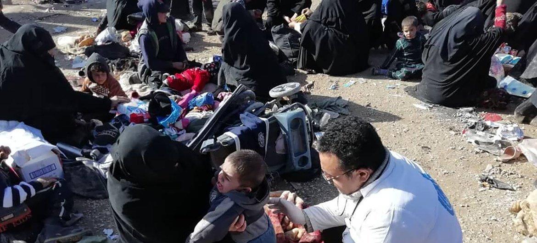 Беженцы в лагере Аль-Хол, расположенном на северо-востоке Сирии
