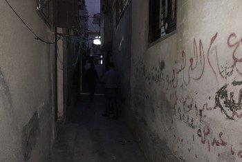 Njia ndogo kwenye kambi ya wakimbizi wakipalestina Gaza.