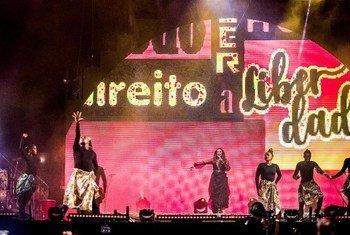 Daniela falou sobre importância de falar sobre direitos no seu tradicional show, que faz no primeiro dia do ano, em Salvador, na Bahia.