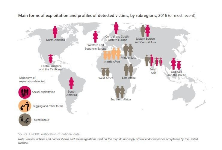 Highest Sex Trafficking Countries