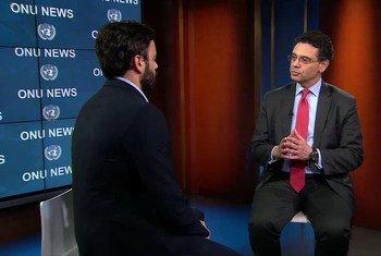 Pedro Conceição em entrevista no estúdio da ONU News