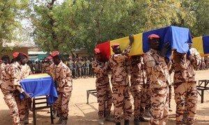 В столице Чада Нджамена отдали дань памяти 10 миротворцам ООН, убитым в Мали