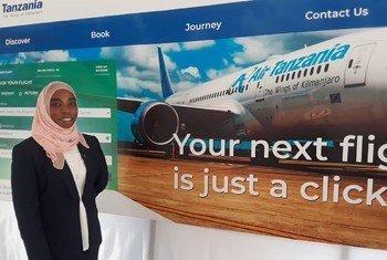 Mhandisi Nadhifa Zubeir Hassan anayefanya kazi na Air Tanzania.