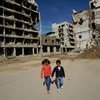 हिंसक संघर्ष का शिकार बच्चे.