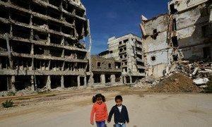 الأطفال من أكثر المتضررين من الصراع في ليبيا. (من الأرشيف)