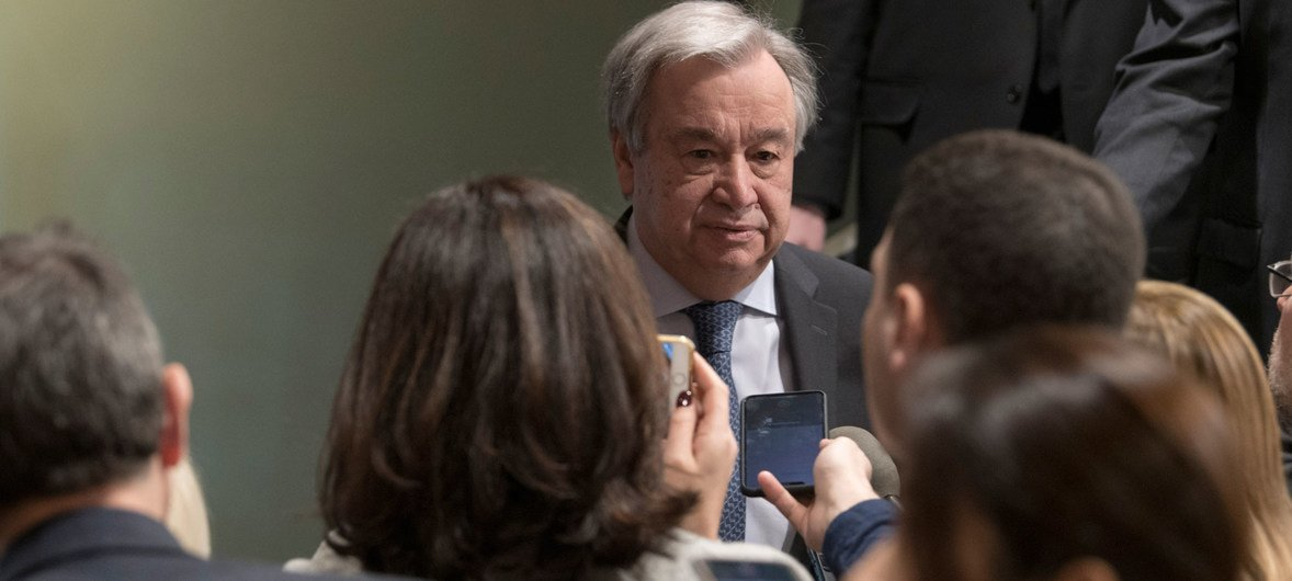 """Guterres destacou questões como a """"onda de xenofobia, racismo e intolerância"""""""