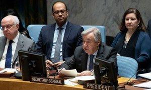 Le Secrétaire général, António Guterres, a prononcé un discours devant le Conseil de sécurité sur les activités des mercenaires en tant que source d'insécurité et de déstabilisation en Afrique.