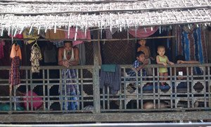 Residents of the Muslim Ward known as Aung Mingalar in the town of Sittwe in Rakhine state, Myanmar.