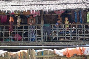缅甸若开邦首府实兑市穆斯林区的居民。