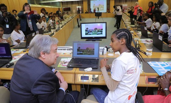 Secretary-General attends an event on digital coding, STEM (Science, Technology, Engineering and Science)– Organized by UN Women. Ethiopia.
