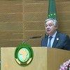 Secretário-geral da ONU, António Guterres, discursa na Cimeira da União Africana em Adis Abeba, na Etiópia