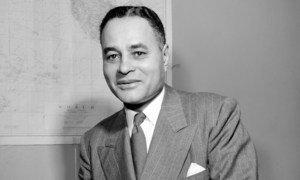 Ralph Bunche (USA, 1904 - 1971) – UN official, Nobel Peace Prize laureate